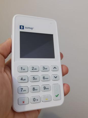 Imagem de Leitor de cartao de credito e debito com chip sumup on - 3g/wi-fi sumup