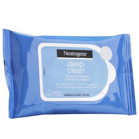 Imagem de Lenço Demaquilante Neutrogena Deep Clean 7 Unidades