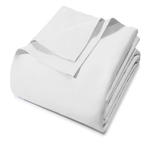 54af882e3e Lençol Avulso - Solteiro - Prata - Sem Elástico - Branco 0001 - 100 Algodão  - 150 Fios - Santista