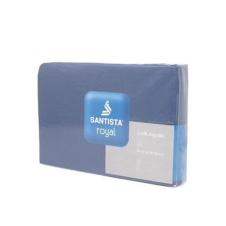 7f3e22d680 Lençol Com Elástico Casal Royal Plus Azul Indigo Santista - Lençol ...