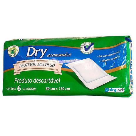 Imagem de Lençol Protetor Multiuso Absorvente Descartável 80 x 150cm Com 6 Dry Economics Mardam