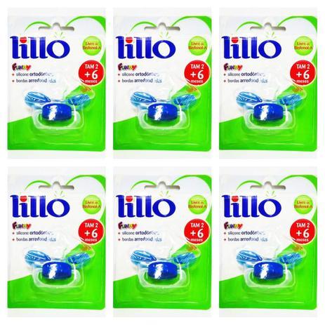 ac84abb55 Lillo 605120 Funny Estampas Chupeta Ort Silicone Azul Tam2 (Kit C/06 ...