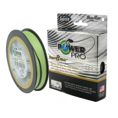 Imagem de Linha Pesca Multifilamento Power Pro Super 8 Slick 150yds 0.28mm 30 Lbs Verde