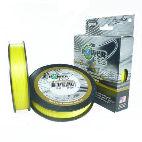 Imagem de Linha Pesca Multifilamento Power Pro Super 8 Slick 150yds 0.36mm 50 Lbs Amarela
