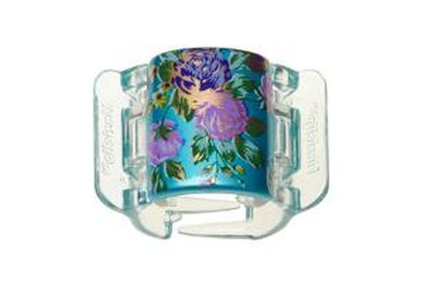 Imagem de Linziclip Bloom Flower Pearlised Sea Blue Bloom 9cmX7cmX4cm