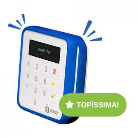 Imagem de Liquidação: Maquininha de Cartão Sumup Top Bluetooth Android e iOS + Capinha exclusiva