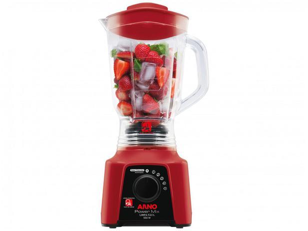 Imagem de Liquidificador Arno Limpa Fácil Power Mix Vermelho