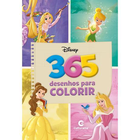 Livro 365 Desenhos Para Colorir Disney Meninas Livros De
