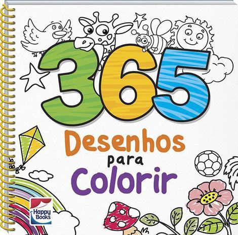 Livro 365 Desenhos Para Colorir Livros De Entretenimento