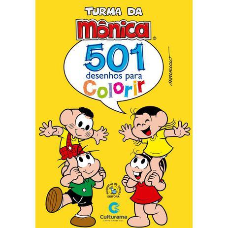 Livro 501 Desenhos Para Colorir Turma Da Monica Livros De
