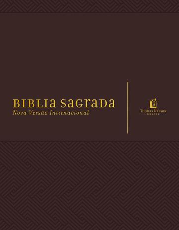 Imagem de Livro - Bíblia NVI, Couro Soft, Marrom, Com Espaço para Anotações, Leitura Perfeita