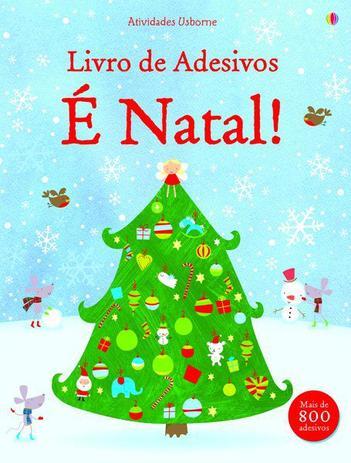 Livro E Natal Livro De Adesivos Livros De Literatura