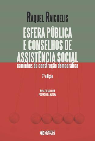Imagem de Livro - Esfera pública e conselhos de assistência social