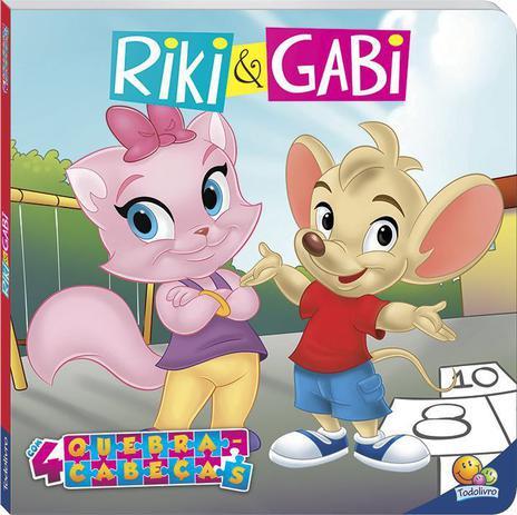 Imagem de Livro - Licenciados com quebra-cabeças: Riki & Gabi
