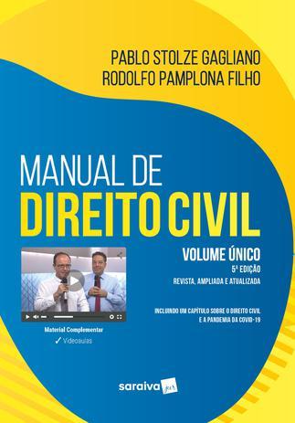 Imagem de Livro - Manual de Direito Civil - Volume Único