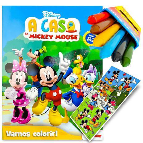 Livro Para Colorir Turma Do Mickey Com Giz De Cera Dcl Livros