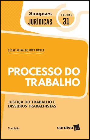 Imagem de Livro - Sinopses jurídicas: Processo do trabalho - 7ª edição de 2019