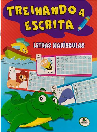 Imagem de Livro - Treinando a escrita: letras maiúsculas