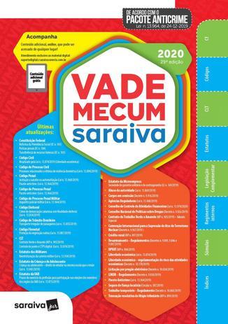 Imagem de Livro - Vade Mecum Saraiva 2020 - Tradicional - 29ª Edição
