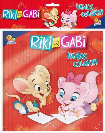 Imagem de Livro - Vamos colorir! Kit livro+lápis de cor: Riki & Gabi