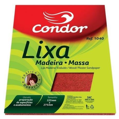Imagem de Lixa para madeira/massa condor  ref. 1040