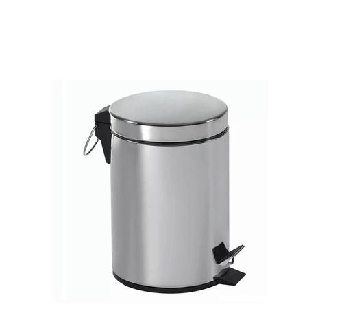 Imagem de Lixeira Aço Inox Redonda 3 Litros Com Pedal Emborrachado