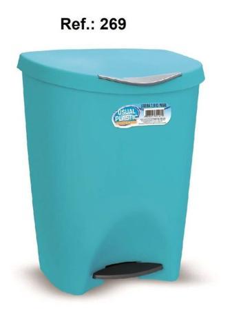 Imagem de Lixeira Banheiro Cozinha Escritorio C/ Pedal 7,5 Litros Verde