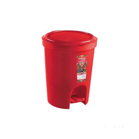 Imagem de Lixeira com pedal 13,5 litros vermelha Sanremo