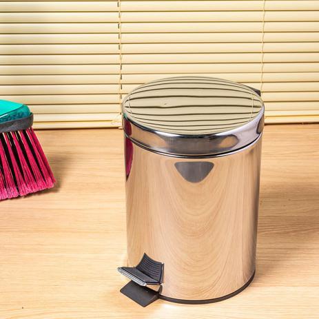 Imagem de Lixeira de inox com pedal 5 litros Coisas e Coisinhas
