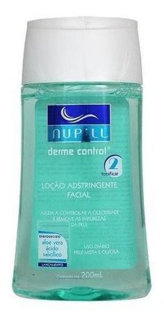 Imagem de Loção Adstringente Facial Derme Control 200ml Nupill Oleosa
