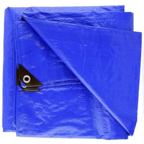 Imagem de Lona Impermeável 2x3m Plástica Azul 75g/m Camping Starfer