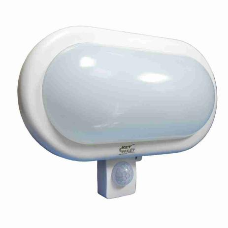 Imagem de Luminária Arandela Tartaruga Branca Leitosa com Sensor de Presença Bivolt 6220 DNI