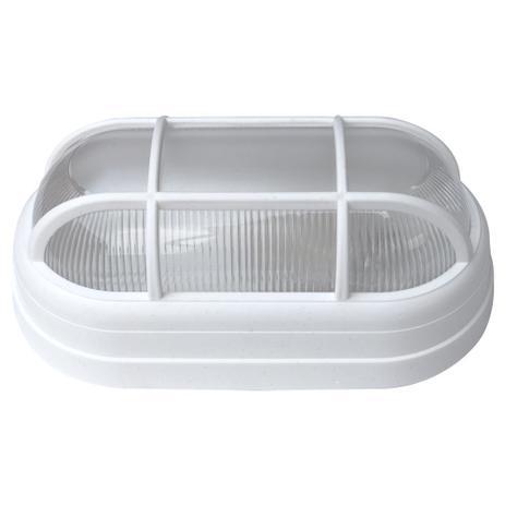 Imagem de Luminária Arandela Tartaruga Externa Teto e Parede Soft Bocal E27 40W 250V Branca