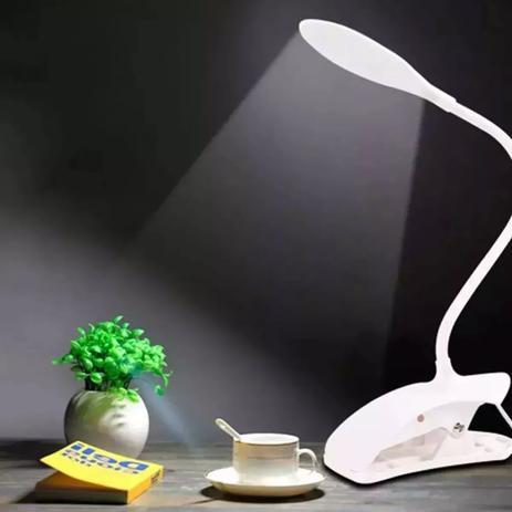 Imagem de Luminaria De Mesa Led Touch Aticulável Flexível Lamp Usb Garra