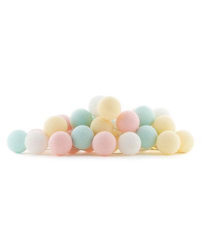 Imagem de Luminária Fio Cordão de Luz de 20 bolas Cormilu Candy - A PILHA