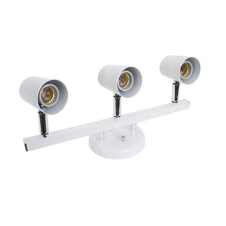 Imagem de Luminária Spot Trilho Dital Versátil, 3 Lâmpadas, Branco - 424/3