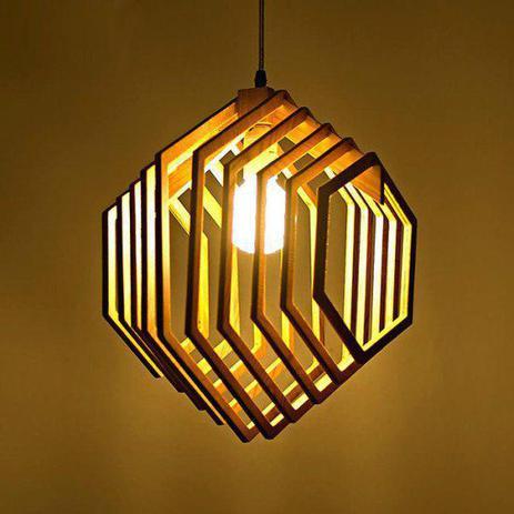 Imagem de Luminária Teto tipo Pendente em MDF - Completa