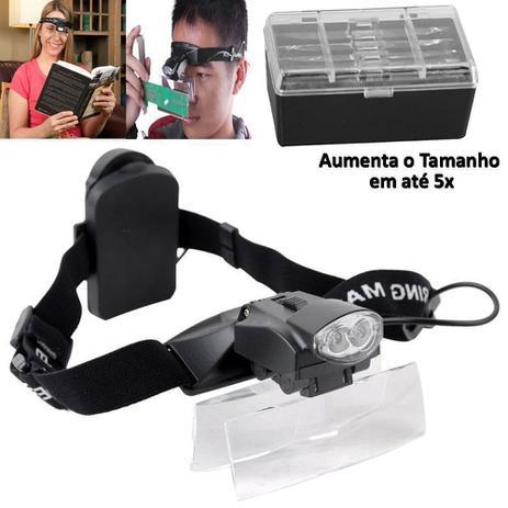 Lupa de Cabeça Profissional 2 LEDS 5 lentes aumento CBRN01286 - Commerce  brasil e0be4cc165