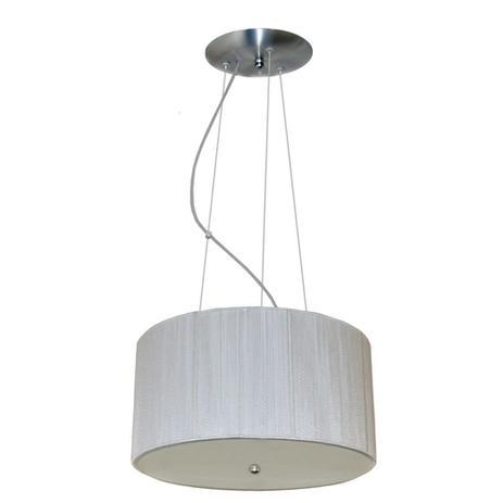 Imagem de Lustre Para Sala De Jantar Com Cúpula De Linha - 40 cm - Branco