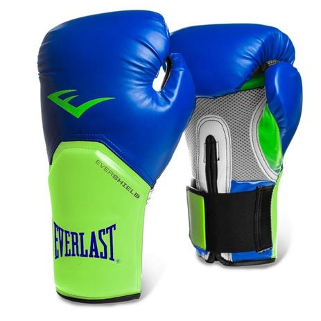 b25bed0cc Luva Boxe Elite Pro Style Everlast Azul com Verde - Luva de Boxe ...