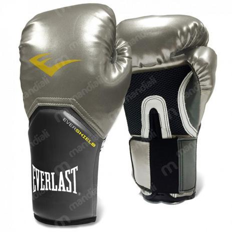 49fc84bb7 Luva Boxe Everlast pro Style Elite Training 10 Oz Prateada - Luva de ...