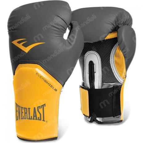 d27308fbc Luva Boxe pro Style Elite Training 16 Oz Amarela com Cinza - Everlast