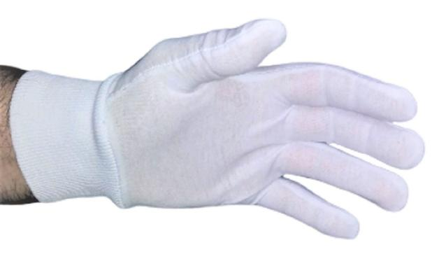 Imagem de Luva de Algodão Kit 6 Pares GG Branca Antialérgica Buffet Garçom Fantasia Alergia