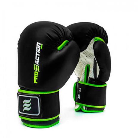 3c09eea2f Luva de Boxe e Muay Thai Profissional 12 Oz Preta Proaction - Luva ...