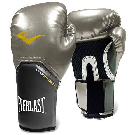 583cc37de6 Luva de Boxe Everlast Pro Style Elite Training Prata - Luva de Boxe ...