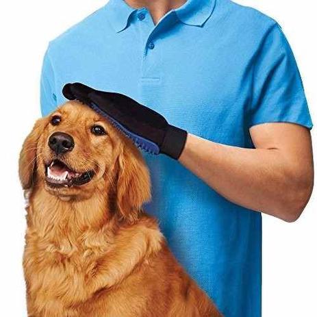 Menor preço em Luva Escova Nano Magnética Tira Pelos Dos Pets Cães E Gatos - Geral