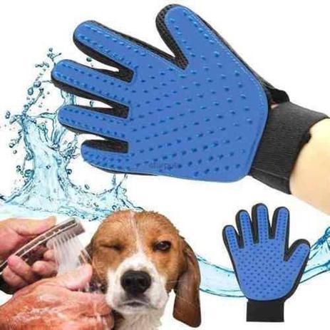 Imagem de Luva Escova Nano Magnetica Tira Pelos Dos Pets Caes e Gatos Removedor De Pelos