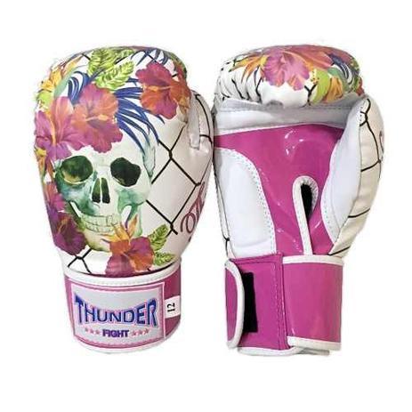 ed1b3aae4 Luva feminina caveira mexicana - 12 Oz - Boxe   Muay Thai   Kickboxing - Thunder  Fight - Ref 1164