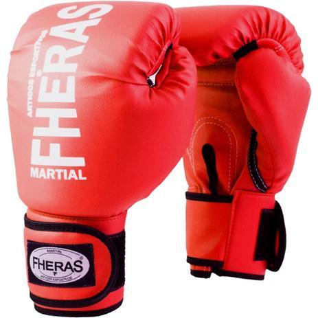 69a0c6196 Luva Fheras Tradicional Vermelha para Muay Thai e Boxe - Luva de ...