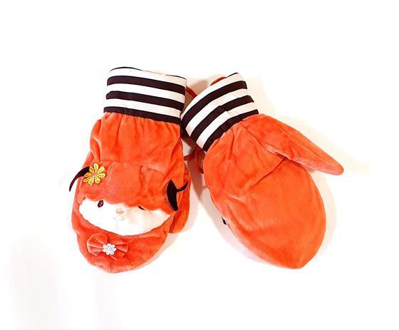 Imagem de Luva Infantil Meninas Térmica Forrada em Lã Laranja